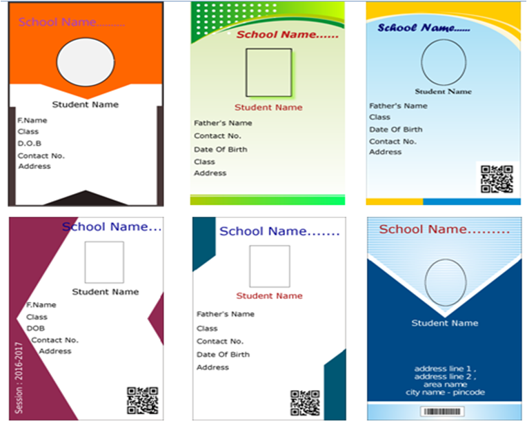 we provide attractive id card design templates free with our product - Id In Design